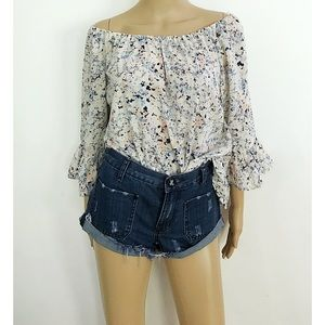 EUC One Teaspoon Distressed Cut Off Denim Short